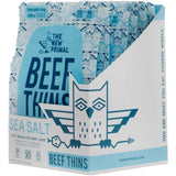 The New Primal Sea Salt Beef Thins - Whole30 Approved, Paleo, Gluten & Soy Free, Pack of 8