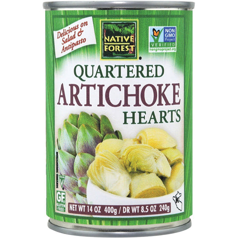 Native Forest Artichoke Hearts, Quartered, 14 Ounce Cans (Pack of 6)