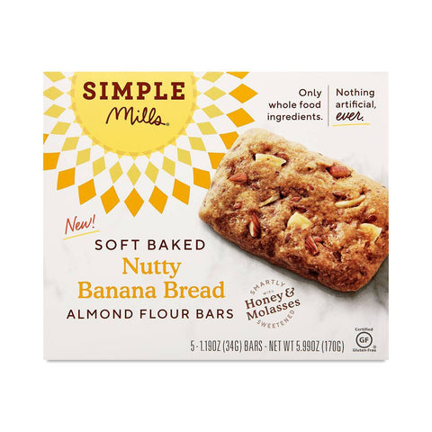 Soft Baked Almond Flour Bars, Nutty Banana Bread