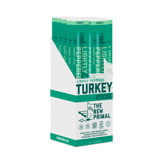 Turkey Sticks, Lightly Peppered  - 20 sticks (1 oz each)