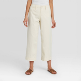 Women's High-Rise Wide Leg Cropped Pants - A New Day™