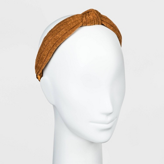 Satin and Knitted Fabric Top Knot Headband - Universal Thread™