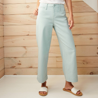 Women's High-Rise Wide Leg Cropped Pants - A New Day