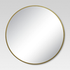 Round Decorative Wall Mirror Brass - Project 62™ : Target