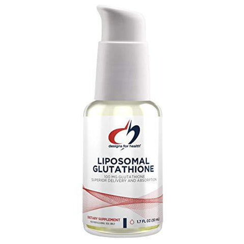 Designs for Health Liposomal Glutathione - 100mg Reduced Sublingual Formula, Lemon Peppermint Flavor (50 Servings / 1.7oz)