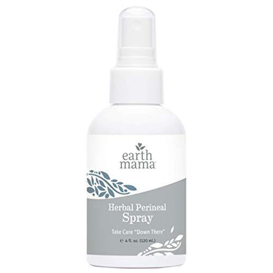 Herbal Perineal Spray by Earth Mama | Safe for Pregnancy and Postpartum, Natural Cooling Spray for After Birth, Benzocaine and Butane-Free 4-Fluid Ounce