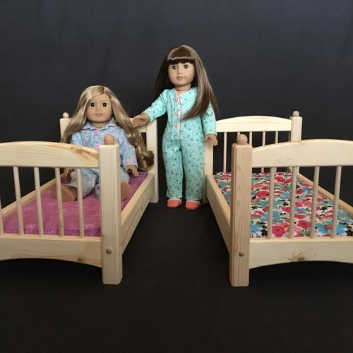"Stackable Bed for American Girl & All Other 18"" Dolls - White Pine - Unfinished"