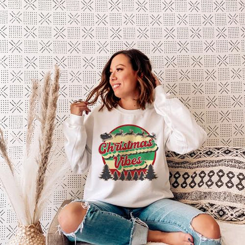 Christmas Vibes Retro Sweatshirt
