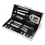 Williams Sonoma Black-Handled 4-Piece BBQ Tool Set with Storage Case