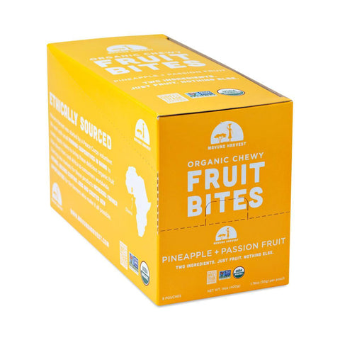 Organic Chewy Fruit Bites, Pineapple & Passionfruit