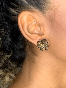 Precious Stone Stud Earrings