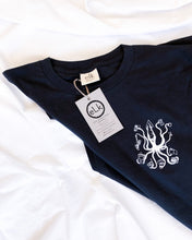 Load image into Gallery viewer, Unisex mens organic cotton tshirt covid 19 design cosquid19 elk draws