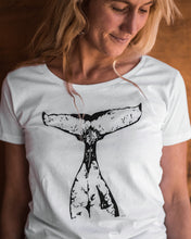 Load image into Gallery viewer, Women's Organic Cotton Whale Tail T-shirt