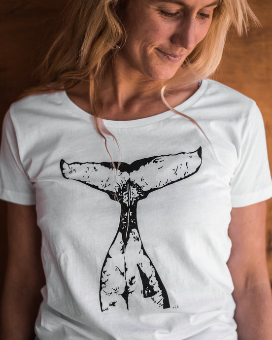 Women's Organic Cotton Whale Tail T-shirt