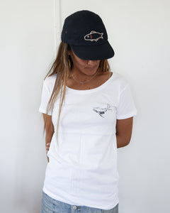 Women's Organic Cotton White Whale Tshirt