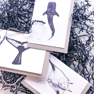 Hand drawn greeting card bundle on recycled paper by elk draws