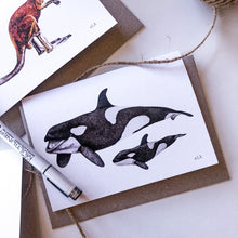 Load image into Gallery viewer, Orca Greeting Card