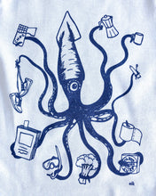 Load image into Gallery viewer, elk draws squid hand drawn baby onesie