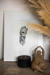 banksia print by elk draws with candle