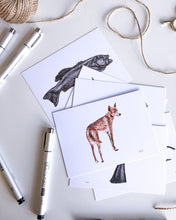 Load image into Gallery viewer, elk draws dingo postcard on recycled paper