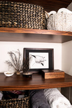 Load image into Gallery viewer, Manta ray print in bathroom with jewellery box and dried coral and shells
