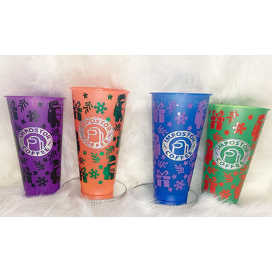 Custom Colour Chaning Christmas Cold Cups!