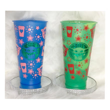 Load image into Gallery viewer, Custom Colour Chaning Christmas Cold Cups!