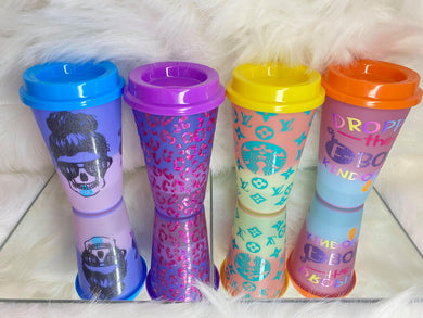 Custom Hot Brew Colour Changing Cups 16oz