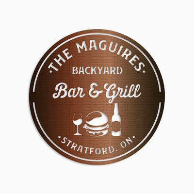 Backyard Bar And Grill Monogram