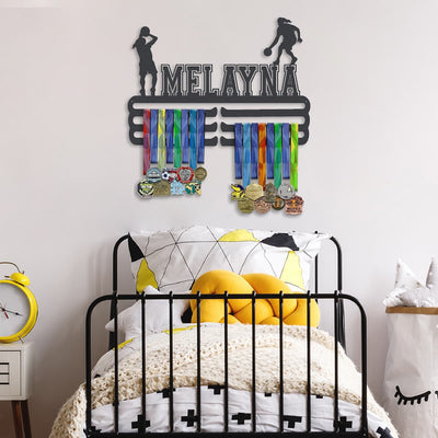 Basketball Medal Hanger - Girl