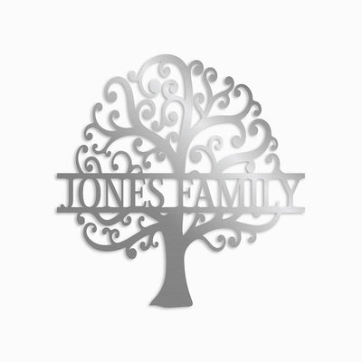FAMILY TOGETHER TREE MONOGRAM - Rustic Home Wall Decor, Steel Metal Designs, Beautiful Wall Art
