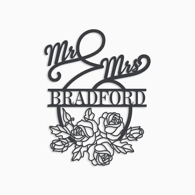 MR AND MRS FLORAL MONOGRAM