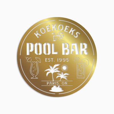 POOL BAR SIGN MONOGRAM