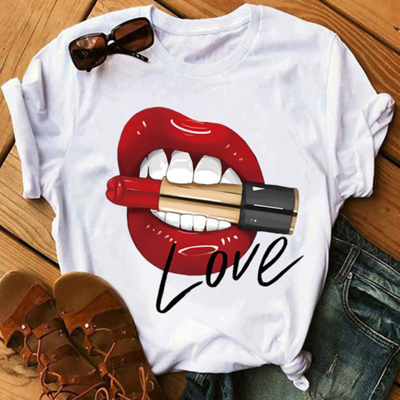 LOVE Lips with Lipstick