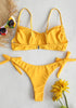 Bow Tie High Rise Bikini Set
