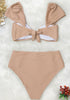 Bowknot High Waisted Bikini Set