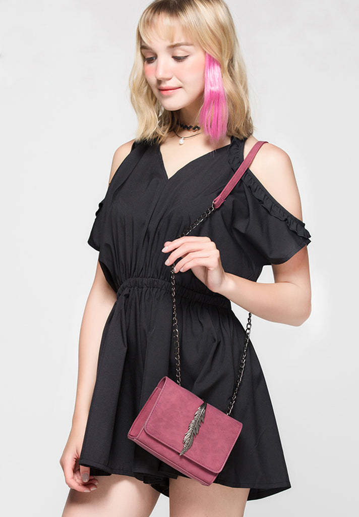 Feathers Mini Crossbody Bag