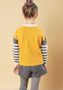 Girls Patchwork Knitted Sweater - Loziy.com