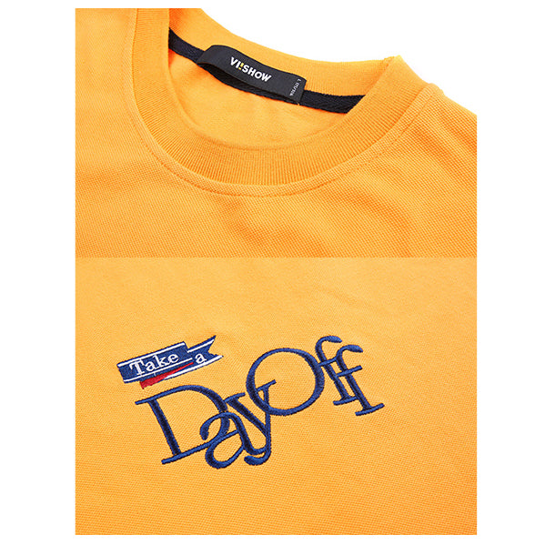 Take A Day Off Yellow Tee