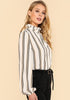 Striped-Frilled-Collar-Blouse