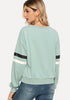 Preppy Varsity Striped Sleeve Sweatshirt - Loziy.com