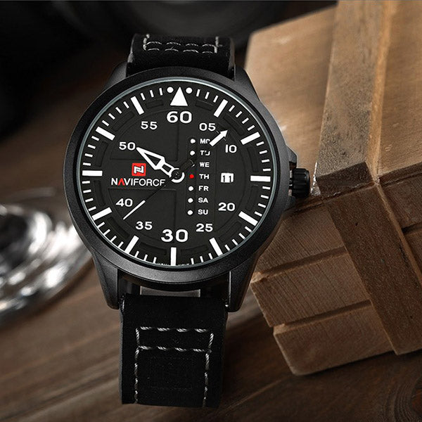 Retro Leather Brand Wristwatch