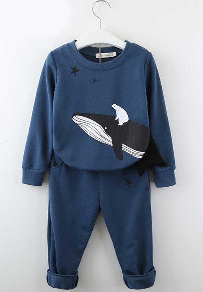 Whale-Print-Two-Piece-Set