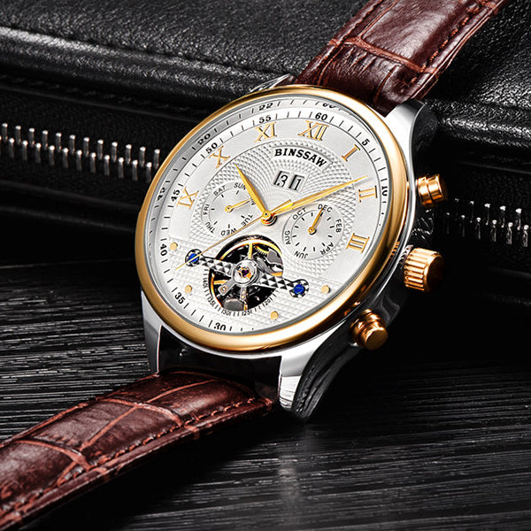 Fully Automatic Mechanical Business Wristwatch - Loziy.com