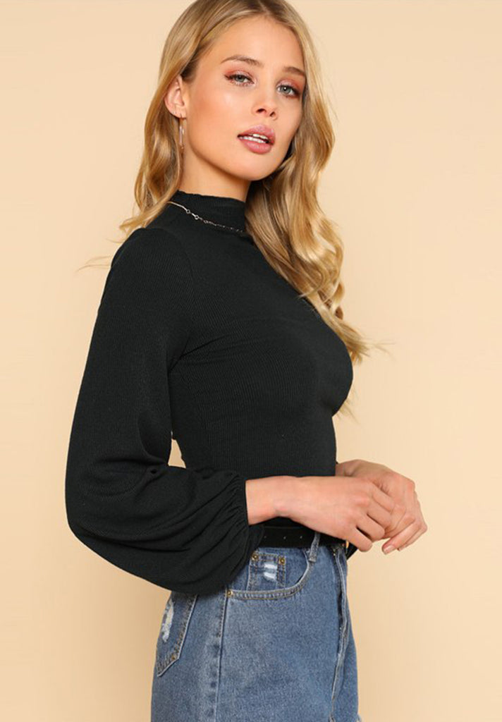 High Neck Workwear Tee - Loziy.com