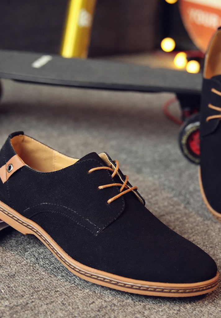 Corduroy Breathable Lace Up Oxford Shoes - Loziy.com