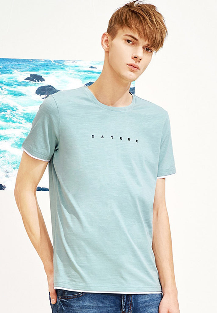 Nature Letter Printed Tee - Loziy.com