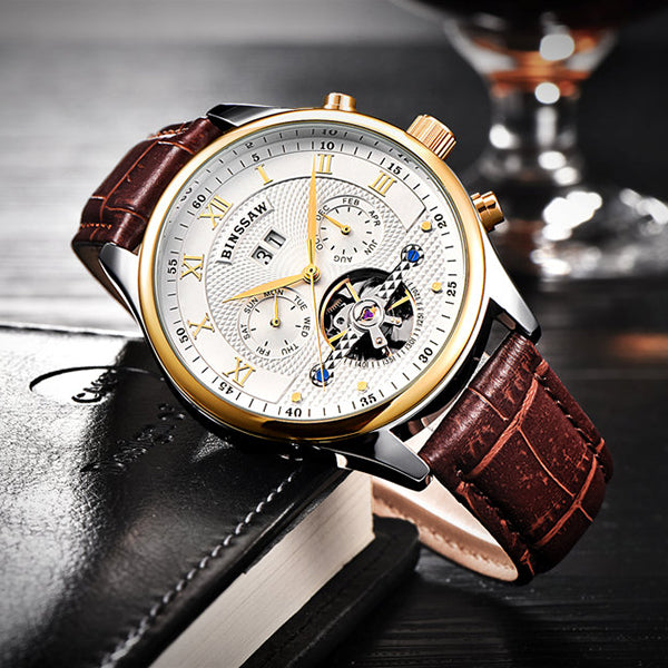 Full-Automatic Mechanical Tourbillon Wristwatch V3 - Loziy.com
