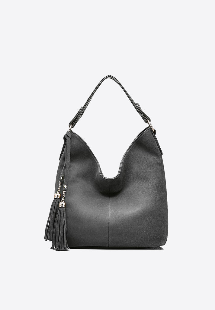 Large Nubuck Leather Shoulder Bag - Loziy.com
