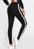 Grommet Detail Contrast Panel Leggings - Loziy.com